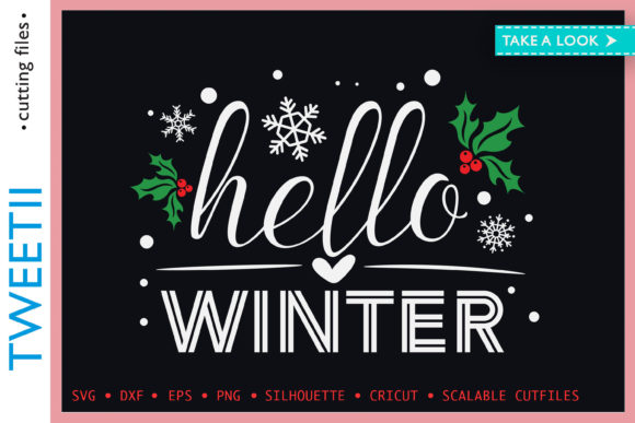 Print on Demand: Hello Winter Christmas Happy Holidays Graphic Crafts By Tweetii