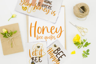 Honey Bee Quotes Grafik Plotterdateien von Firefly Designs
