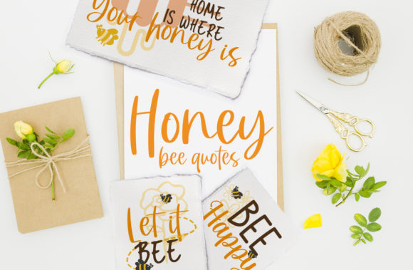 Honey Bee Quotes Graphic Crafts By Firefly Designs