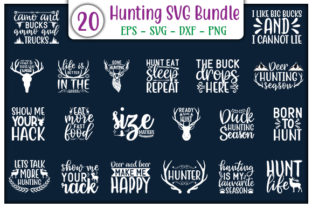 Print on Demand: Hunting Design Bundle Graphic Print Templates By GraphicsBooth