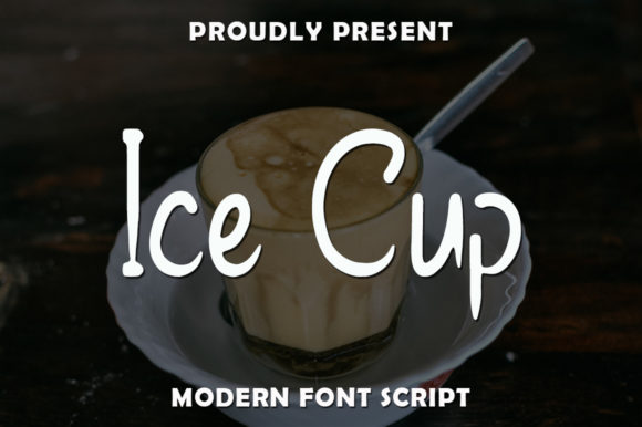 Print on Demand: Ice Cup Script & Handwritten Font By rangkaiaksara