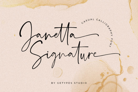 Print on Demand: Janetta Signature Script & Handwritten Font By getypes