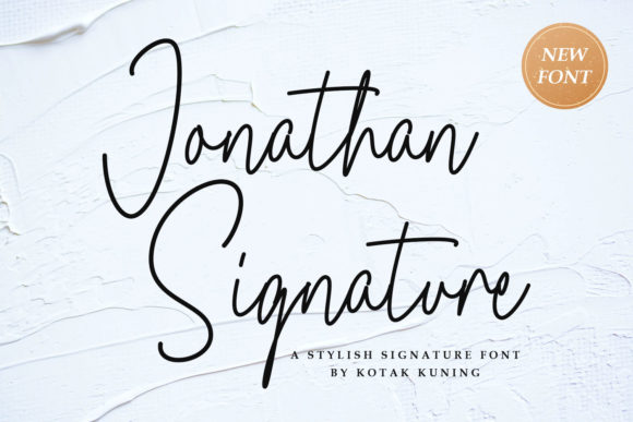 Print on Demand: Jonathan Script & Handwritten Font By Kotak Kuning Studio