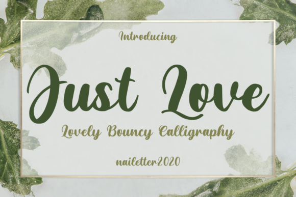 Print on Demand: Just Love Script & Handwritten Font By nailetter