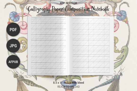 Print on Demand: KDP Calligraphy Composition Notebook Graphic KDP Interiors By The Low Content Bookshelf