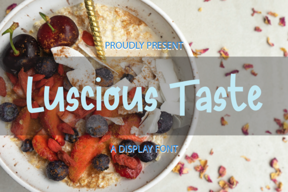 Print on Demand: Luscious Taste Display Font By merge354
