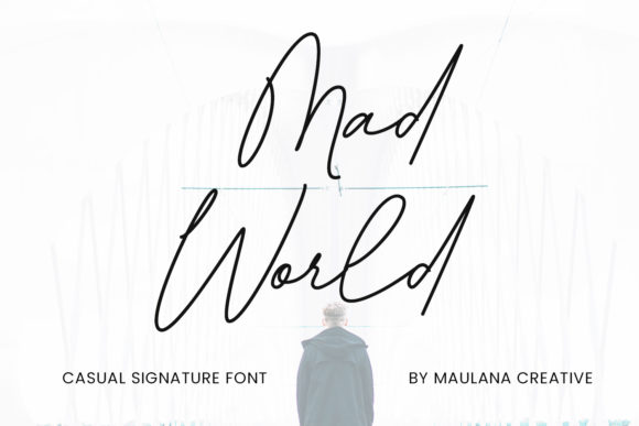 Print on Demand: Mad World Script & Handwritten Font By Maulana Creative