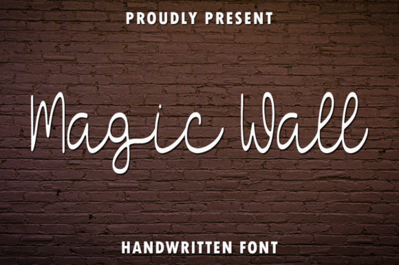 Print on Demand: Magic Wall Script & Handwritten Font By rangkaiaksara