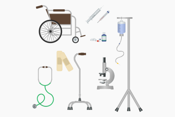Medical Equipment Illustration Icons Set Graphic Web Elements By faqeeh