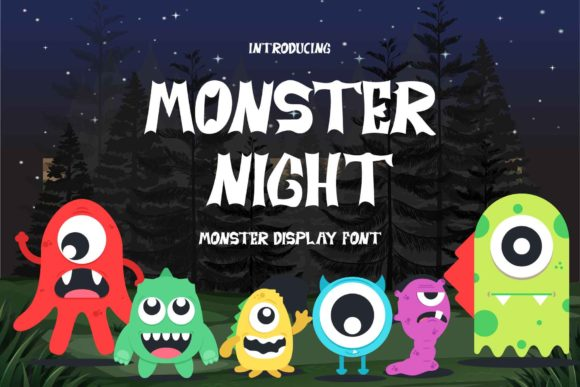 Print on Demand: Monster Night Display Font By Alfinart
