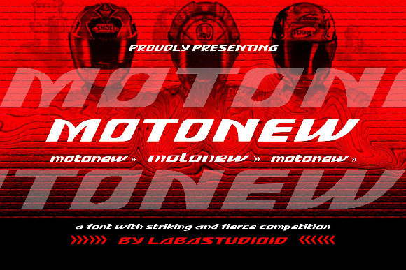 Print on Demand: MotoNew Display Font By Labastudioid