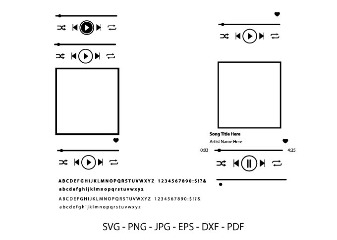 Music Player Svg, Spotify Song, Song Art SVG File