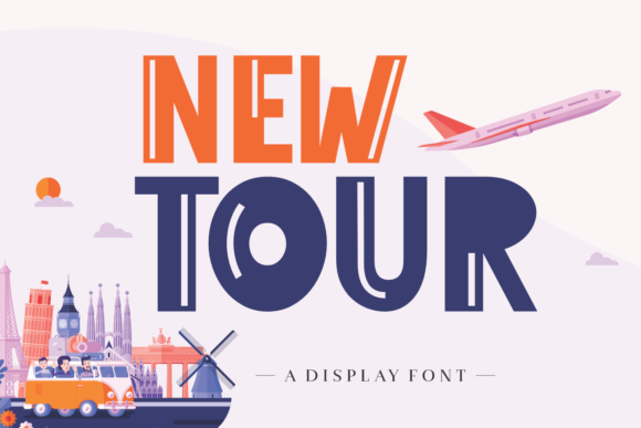 Print on Demand: New Tour Display Font By Lian-7NTypes