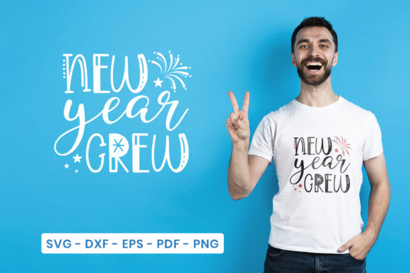 New Year, New Year Crew Graphic Crafts By CraftlabSVG