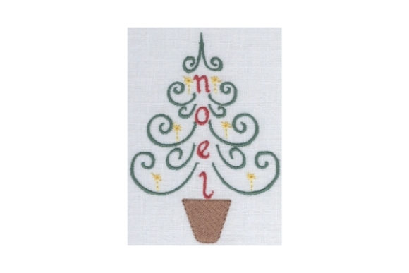 Noel Tree Christmas Embroidery Design By Sew Terific Designs