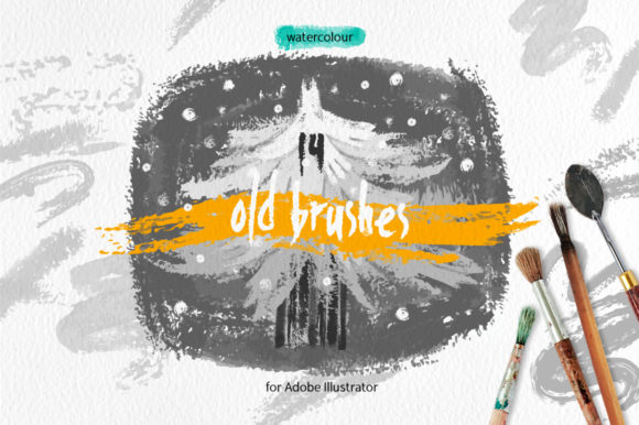 Old Brushes for Illustrator Graphic Brushes By Mazheika Store