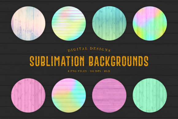 Print on Demand: Pastel Sublimation Wood Backgrounds Graphic Backgrounds By Sabina Leja