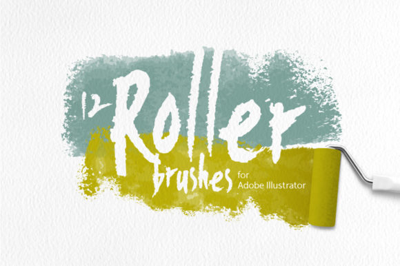 Roller Brushes for Illustrator Graphic Brushes By Mazheika Store