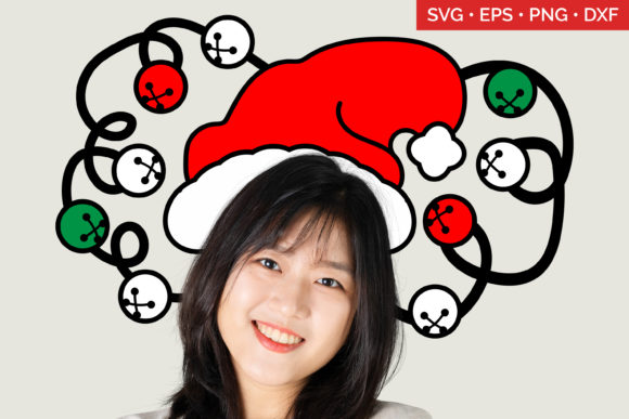 Santa Hat SVG Christmas Graphic Crafts By Enliven Designs