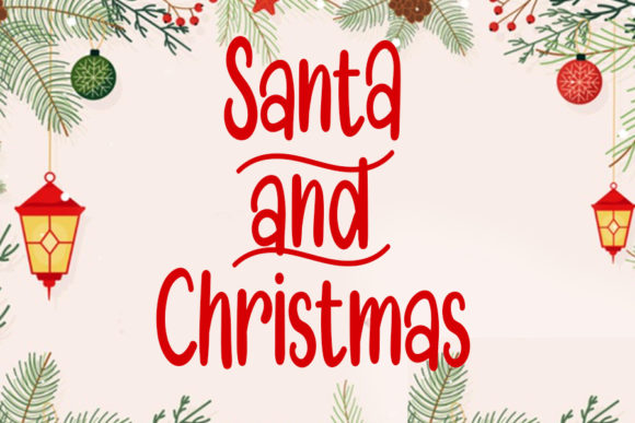 Print on Demand: Santa and Christmas Script & Handwritten Font By Inermedia STUDIO