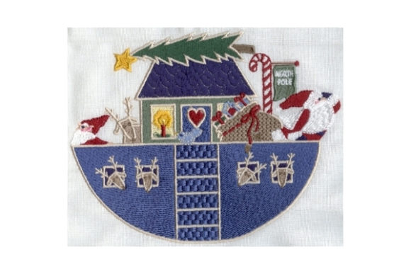 Santa's Ark Filled Christmas Embroidery Design By Sew Terific Designs
