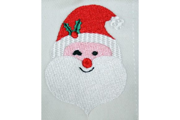 Santas Wink Christmas Embroidery Design By BabyNucci Embroidery Designs