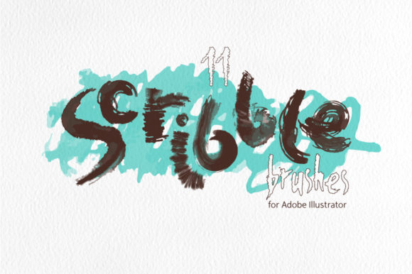 Scribble Brushes for Illustrator Graphic Brushes By Mazheika Store