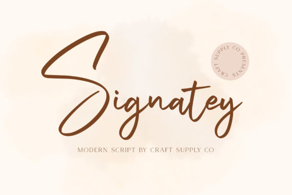 Print on Demand: Signatey Script & Handwritten Font By craftsupplyco