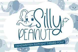 Print on Demand: Silly Peanut Decorativa Fuente Por freelingdesignhouse