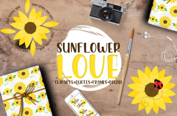 Sunflower Love Graphic Crafts By Firefly Designs