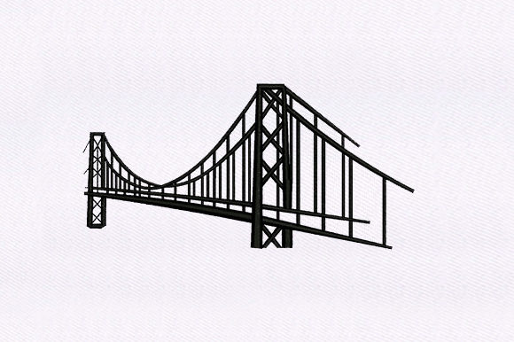 Suspended Bridge Europe Embroidery Design By DigitEMB