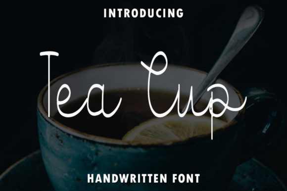 Print on Demand: Tea Cup Script & Handwritten Font By rangkaiaksara