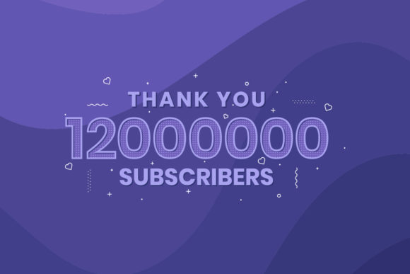 Print on Demand: Thank You 12000000 Subscribers Graphic Illustrations By Netart
