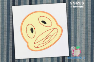 The Face Showing Silly Expression Circus & Clowns Embroidery Design By embroiderydesigns101