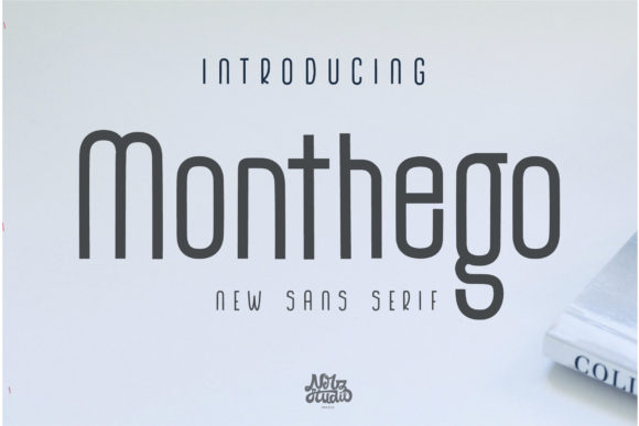 Print on Demand: The Monthego Sans Serif Font By Nerdstudio