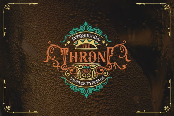 Print on Demand: The Throne Blackletter Font By Alit Design