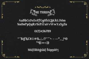 Print on Demand: The Throne Blackletter Font By Alit Design 10