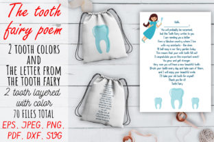 The Tooth Fairy Poem SVG Set. Graphic Crafts By OK-Design 1