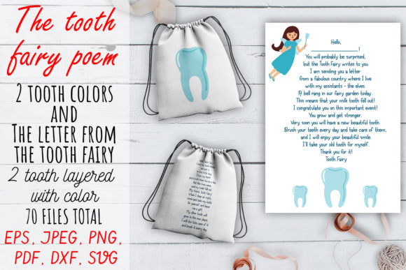 Print on Demand: The Tooth Fairy Poem SVG Set. Graphic Crafts By OK-Design