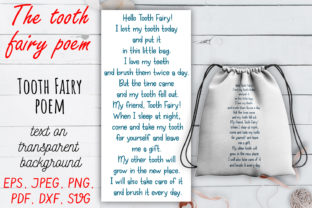 The Tooth Fairy Poem SVG Set. Graphic Crafts By OK-Design 3