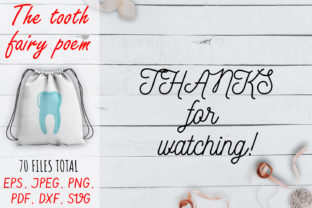The Tooth Fairy Poem SVG Set. Graphic Crafts By OK-Design 6