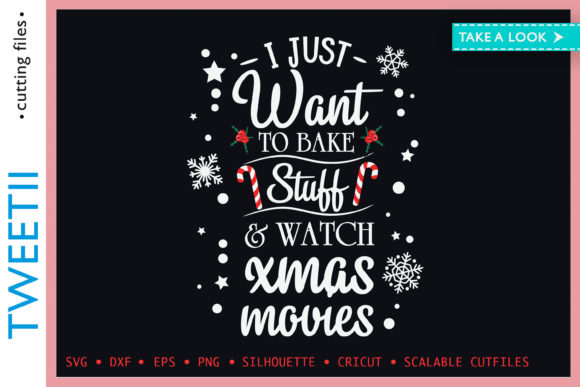 Print on Demand: Want to Bake Stuff and Watch Xmas Movies Graphic Crafts By Tweetii