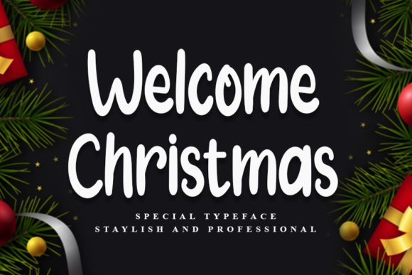 Print on Demand: Welcome Christmas Script & Handwritten Font By Inermedia STUDIO
