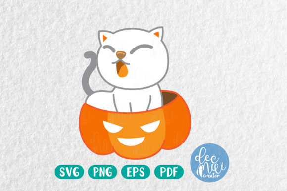 Print on Demand: White Cats Graphic Illustrations By decnui.creator