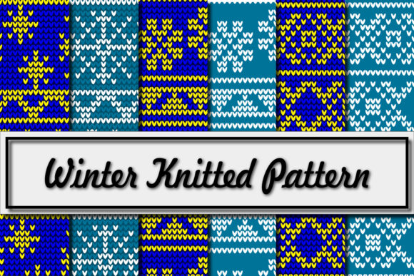 Print on Demand: Winter Knitted Pattern Graphic Patterns By Mahesa Design