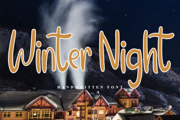 Print on Demand: Winter Night Script & Handwritten Font By FL Space