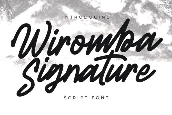 Print on Demand: Wiromba Script & Handwritten Font By Maulana Creative