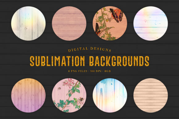 Print on Demand: Wood Sublimation Backgrounds Graphic Backgrounds By Sabina Leja