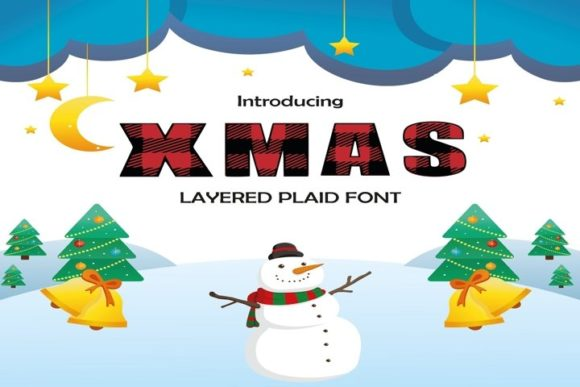 Print on Demand: Xmas Display Font By Wowsvgstudio