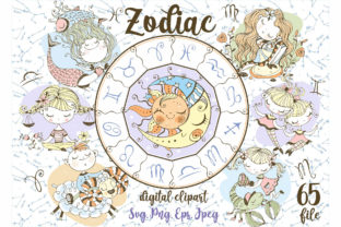 Zodiac Kids Svg Png Digital Clipart in C Graphic Illustrations By grigaola
